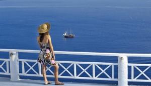 Inselhopping Griechenland Reise La Perla Villas Ausblick