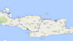 Kreta Rundreise Karte