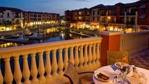 Rundreise New York Florida Naples Bay Resort Terrasse