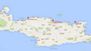 Kreta Reise Karte