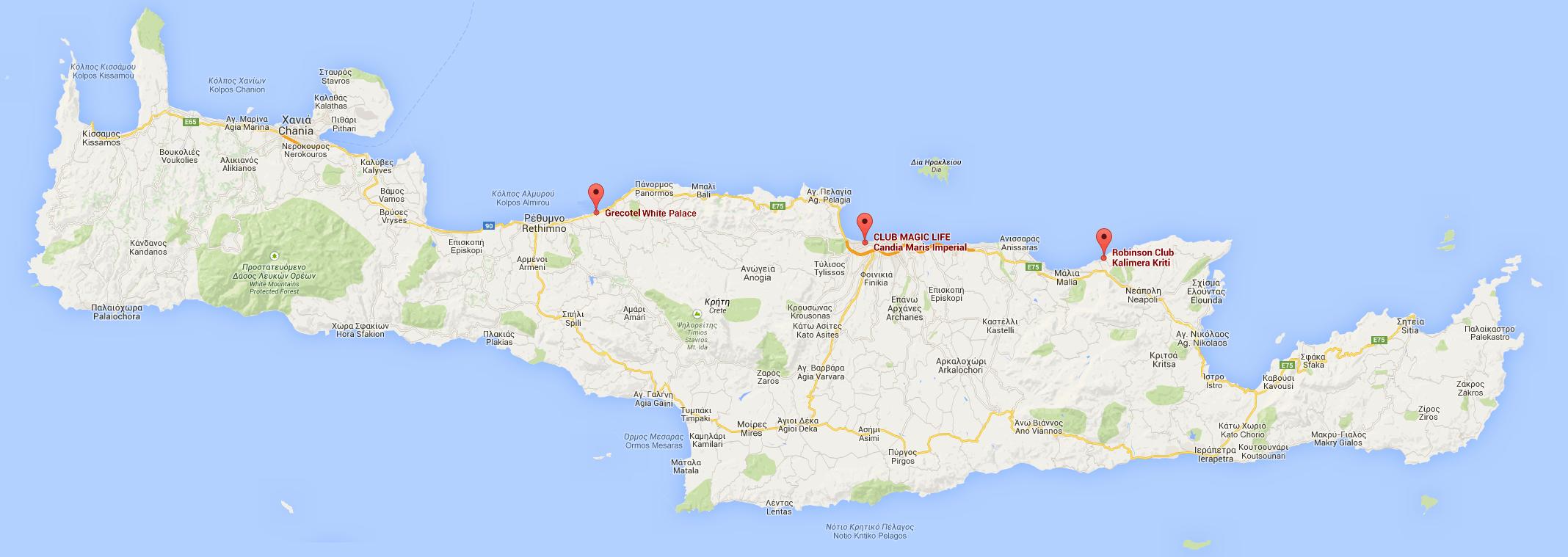Karte Kreta Kreta Topographische Karte Karte 2018 B 246