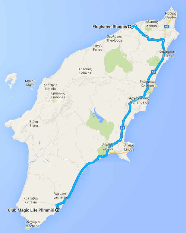 Rhodos Karte Flughafen.Tui Magic Life Plimmiri Cluburlaub Auf Rhodos