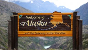 Yukon & Alaska Rundreise - Alaska Welcome sign -State of Alaska - Dirk Rohrbach