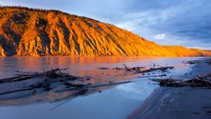 Yukon & Alaska Rundreise - Clay Cliffs am Yukon River