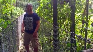 Costa Rica Reiseimpressionen - Hängebrücke