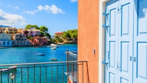 Griechenland Inselhüpfen Reise - Hafen von Assos