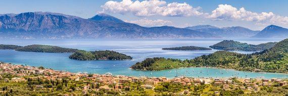 Griechenland Inselhüpfen Reise - Ausblick Lefkas