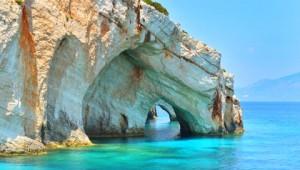 Griechenland Inselhüpfen Reise - Blaue Grotten Zakynthos