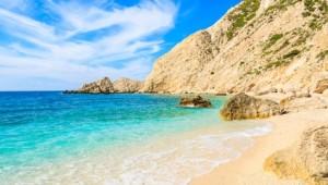 Griechenland Inselhüpfen Reise - Strandbucht Ionische Inseln